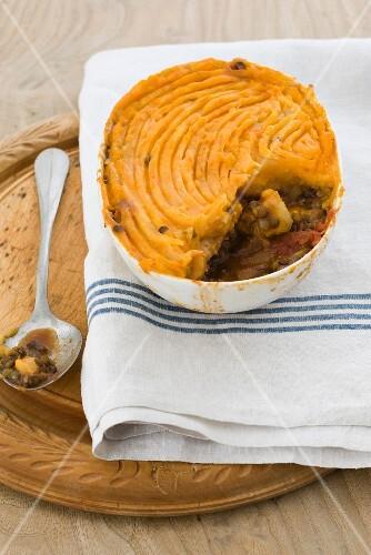 Lentil and potato gratin