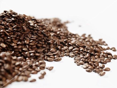 A heap of coffee beans