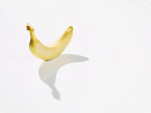 A banana casting a shadow