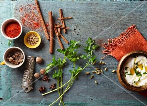 An arrangement of Indian spices