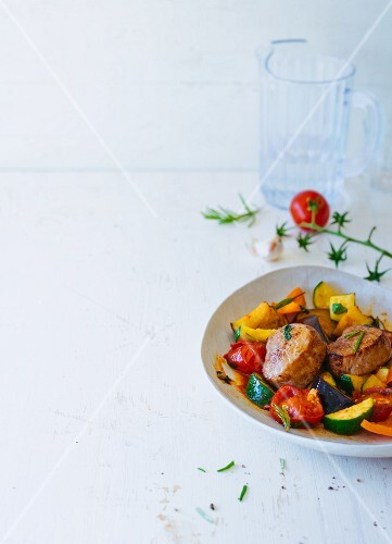 Pork medallions with ratatouille
