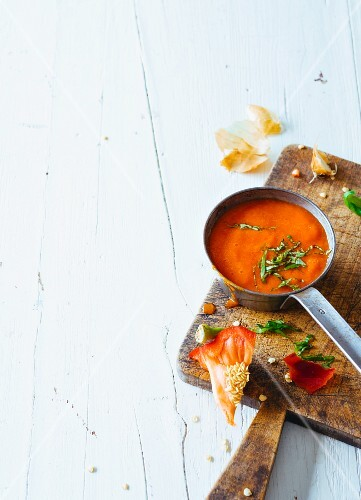 Red pepper sauce with herbs