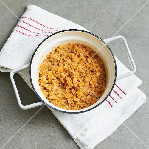 Filling for lentil and aubergine quiche
