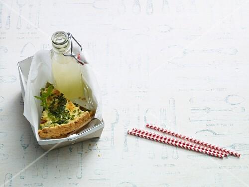 Chicory quiche with mustard cream