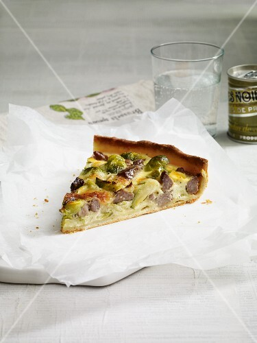 Brussels sprouts and lamb quiche