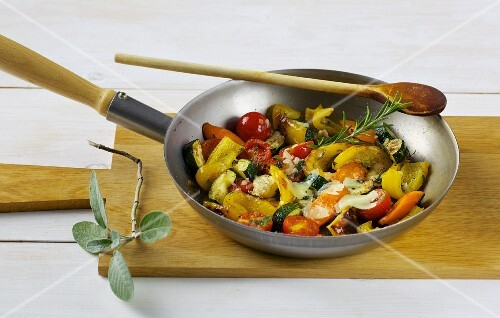 A colourful Italian-style vegetable bake