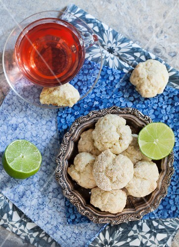 Coconut and lime biscuits