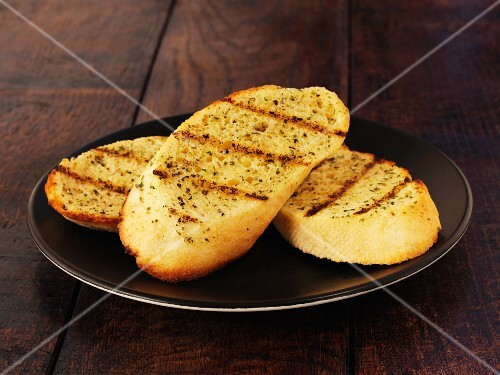 Slices of grilled garlic bread