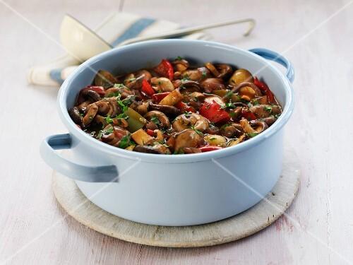 Mushroom and vegetable stew