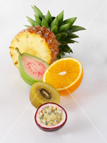 Pineapple, guava, orange, kiwi and passionfruit