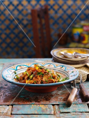Lamb tagine with green beans (North Africa)