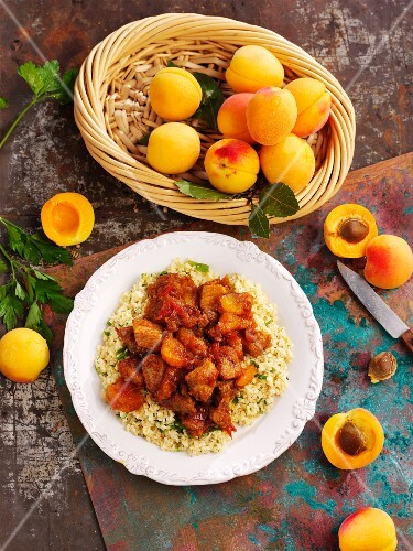 Pork with apricots and couscous