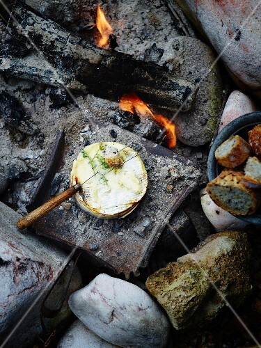 Grilled Camembert with thyme