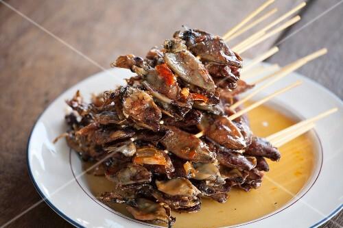 Grilled squid skewers (Thailand)