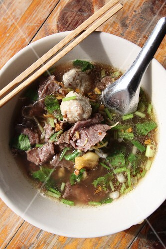Noodle soup with beef, Thailand