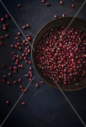 Adzuki beans in a bowl