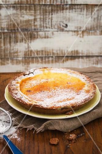 Crostata di ricotta (ricotta cake, Italy)