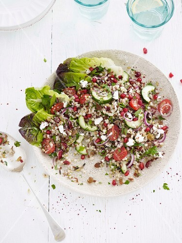 Tabbouleh with tomatoes and onions