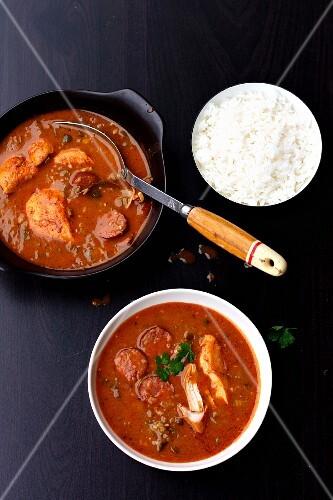 Louisiana Gumbo with rice (USA)