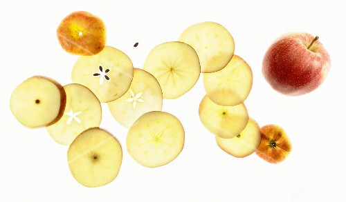 Apples, whole and sliced