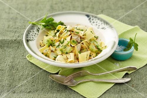 Austria pasta with herbs