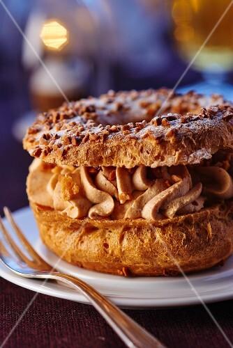 Paris Brest (choux pastry with buttercream, France)