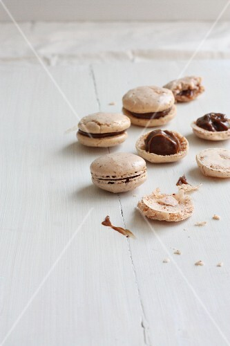 Macaroons with chocolate cream
