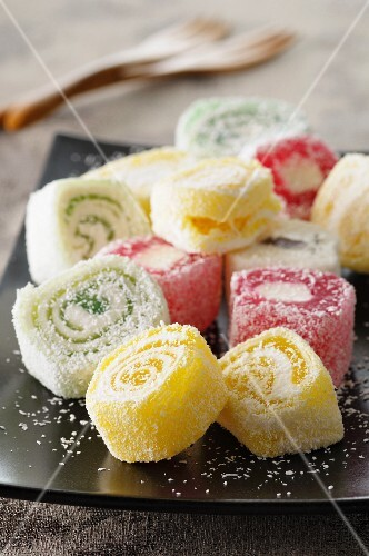 Turkish Delight with grated coconut
