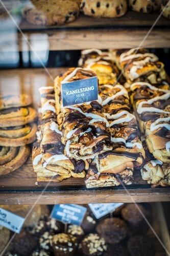 Cinnamon buns at the Torvehallerne market in Copenhagen