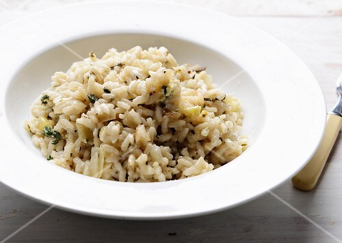 Chicken risotto with herbs