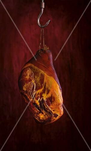 A hanging ham