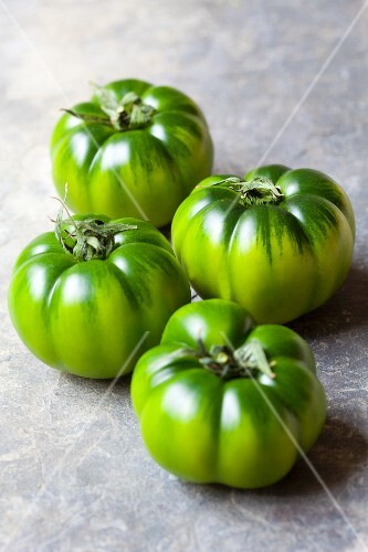 Four green tomatoes