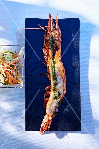 Grilled langoustine (seen from above)