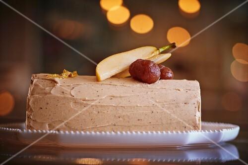 Bouche de Noel with chestnut cream