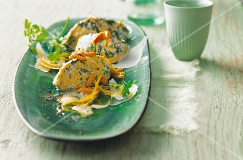 Ricotta and spinach dumplings with pine nut and lemon butter