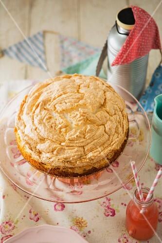 A lemon meringue cake for a party