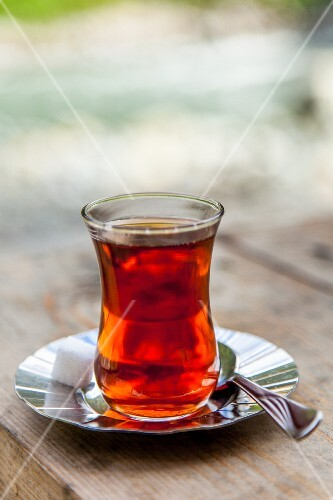 Tea in a typical Turkish tea glass