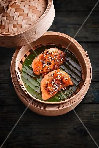 Steamed prawn dumplings (China)