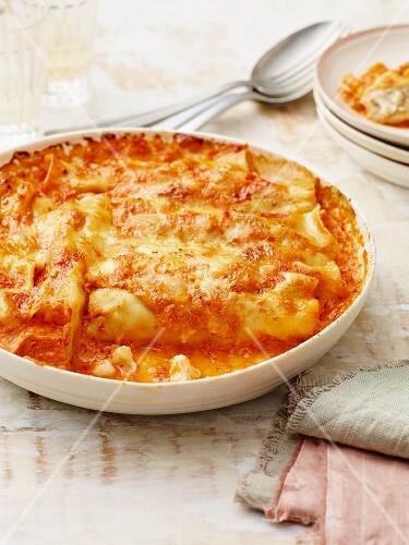 Cauliflower and salsiccia cannelloni
