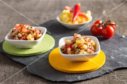Homemade tomato and pineapple salsa