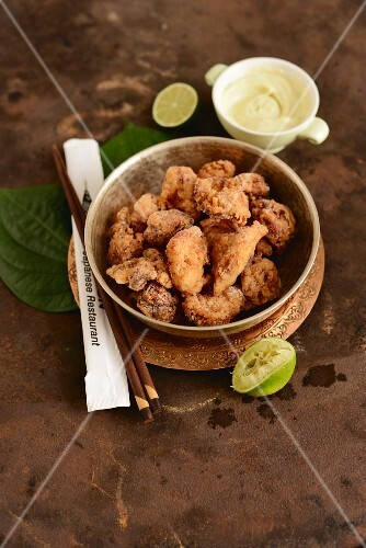 Fried chicken 'karaage' from Singapore