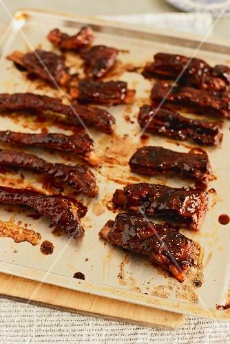 Glazed pork ribs from Singapore