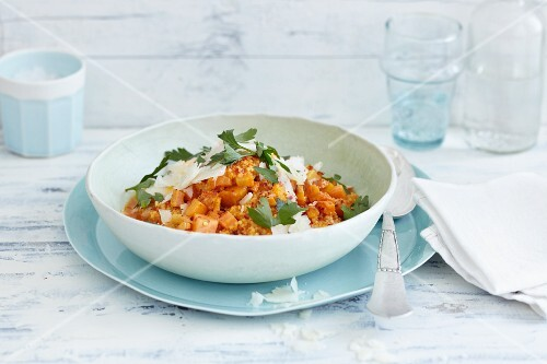 Millet risotto with carrots