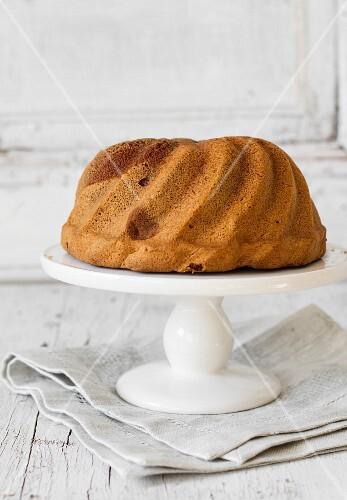 Ring cake on cake stand