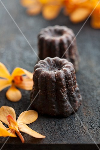 Canneles with vanilla and rum (France)