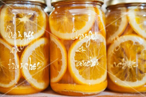 Preserved orange slices in jars, 'Pain d'Épices' de Mireille Oster, Strasbourg