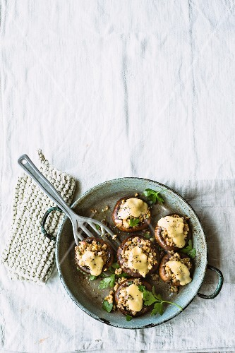 Stuffed giant mushrooms