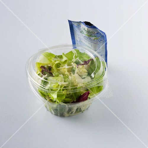 A salad with a dressing