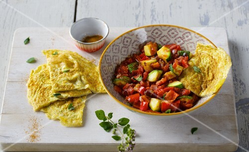 Ratatouille with omelette