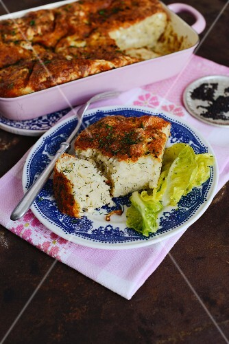 Börek-style bake (Turkish cheese and egg bake with yufka pastry)